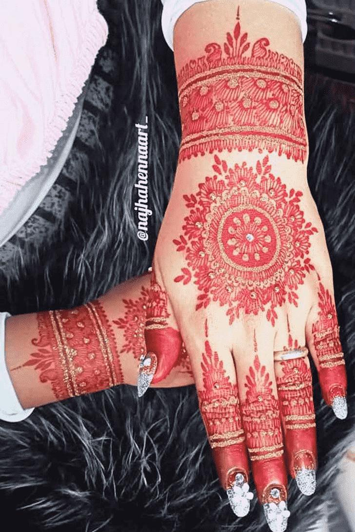 Pretty Red Henna Design