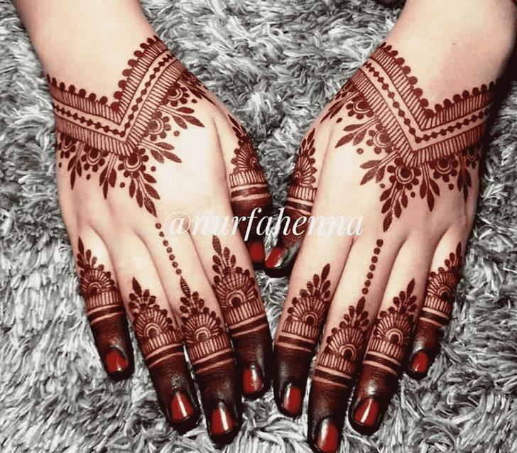 Ravishing Red Henna Design