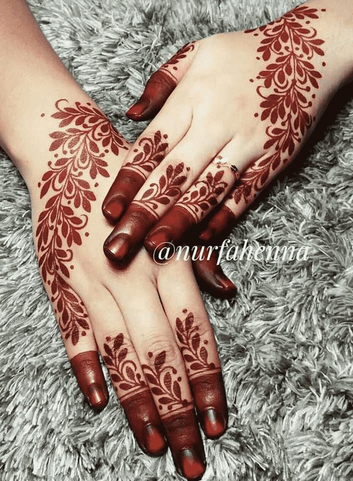 Refined Red Henna Design
