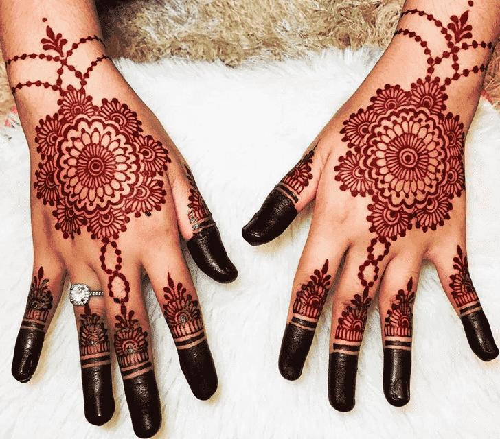 Slightly Red Henna Design