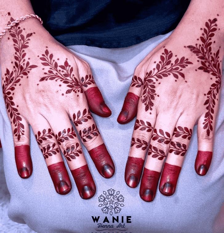 Stunning Red Henna Design