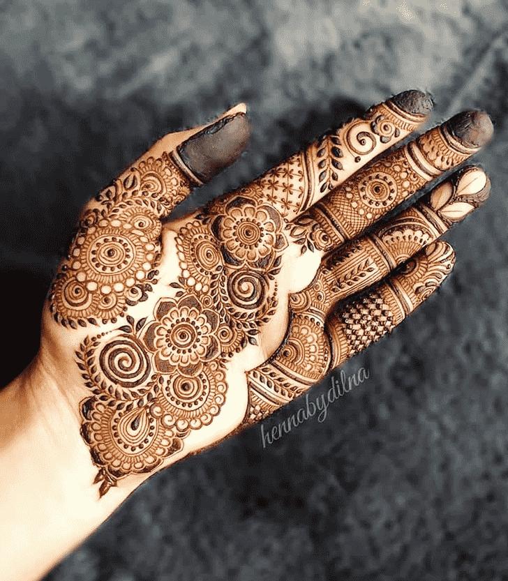 Angelic Reverse Henna Design