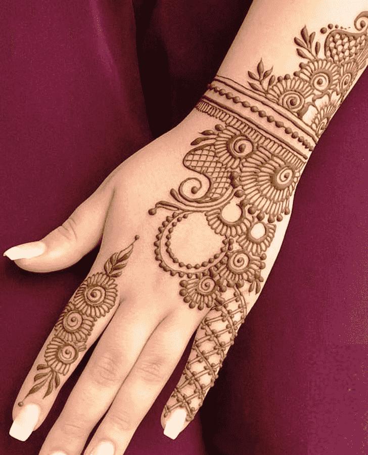 Appealing Reverse Henna Design