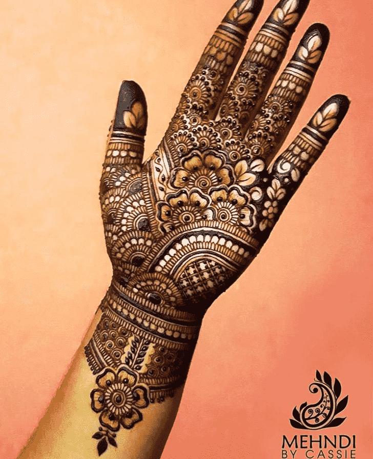 Classy Reverse Henna Design