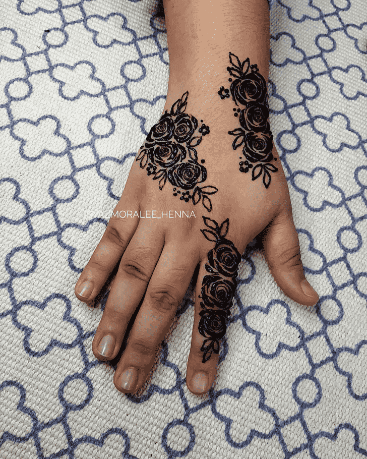 Angelic Right Hand Henna design