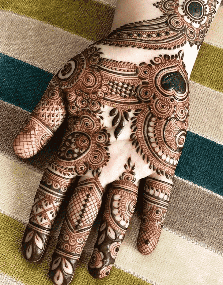 Appealing Right Hand Henna design