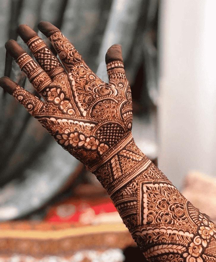 Classy Right Hand Henna design
