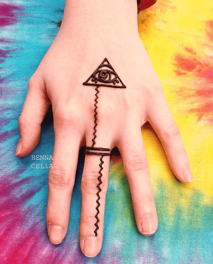 Alluring Ring Henna Design