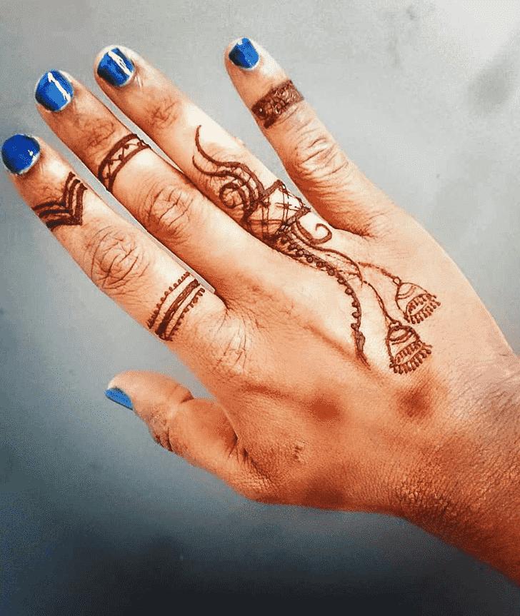 Magnetic Ring Henna Design