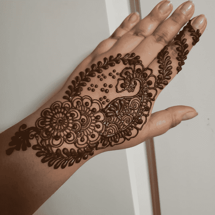 Angelic Romantic Henna design