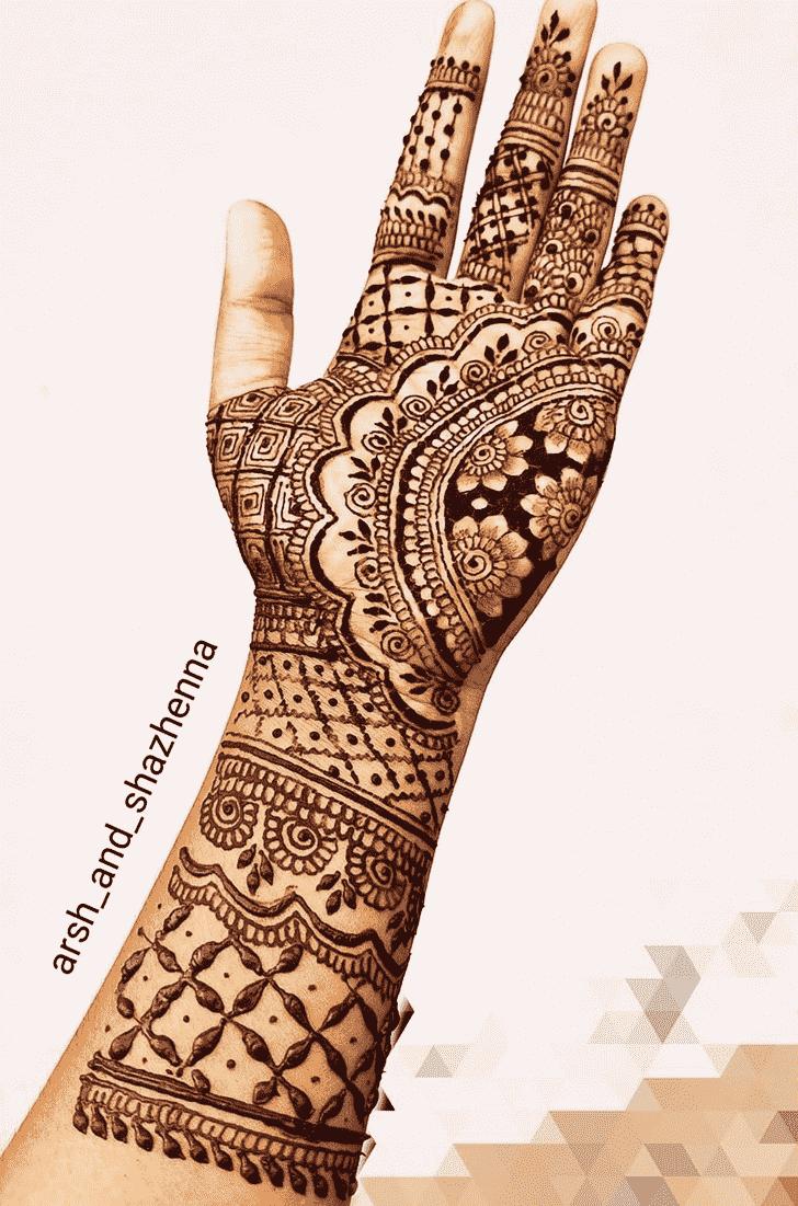 Appealing Romantic Henna design