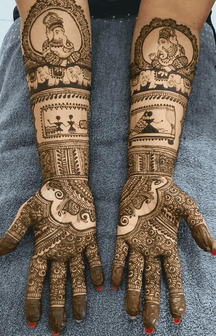 Charming Romantic Henna design