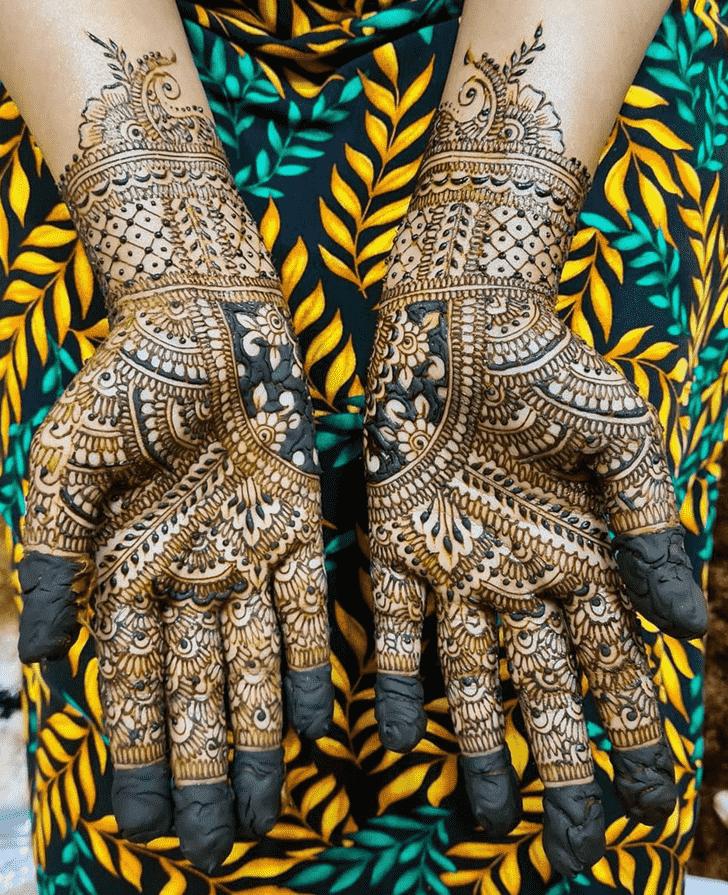 Delightful Romantic Henna design