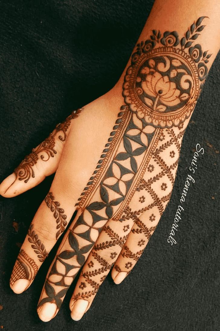 Adorable Roses Henna Design