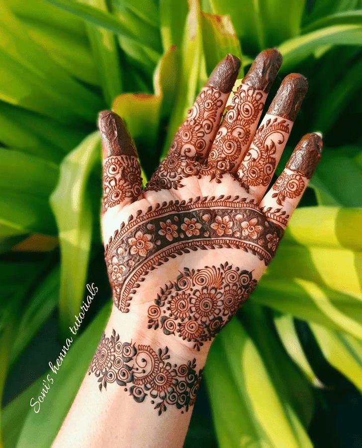 Angelic Roses Henna Design