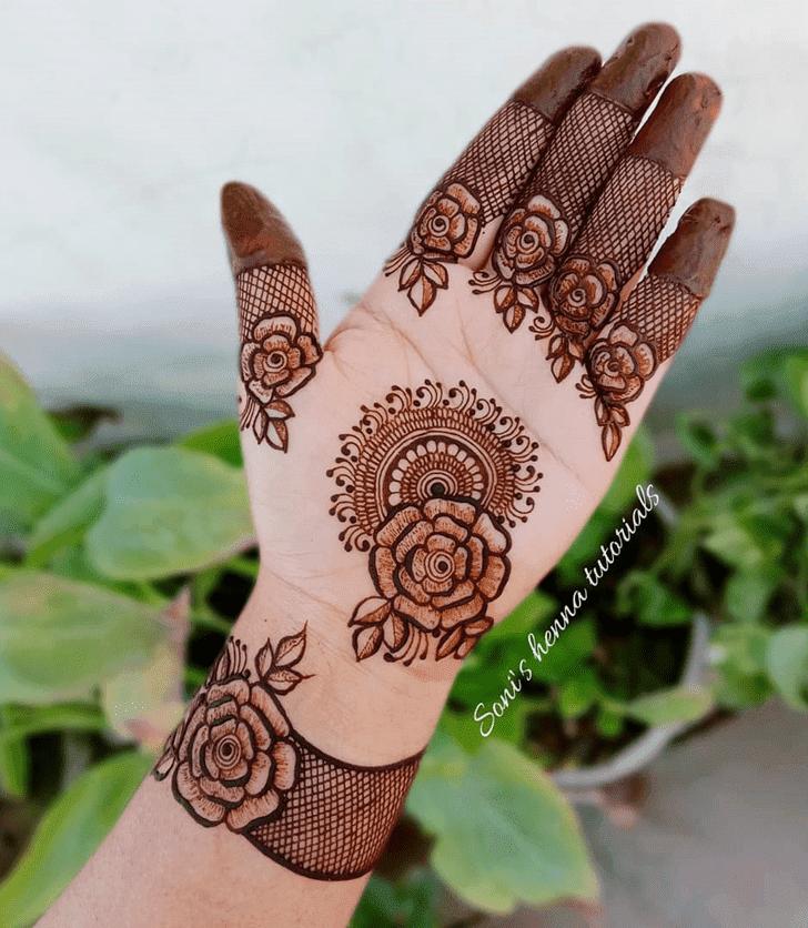 Appealing Roses Henna Design