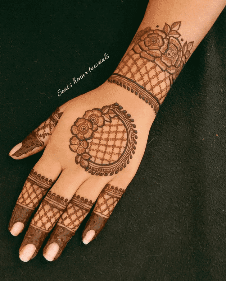 Bewitching Roses Henna Design