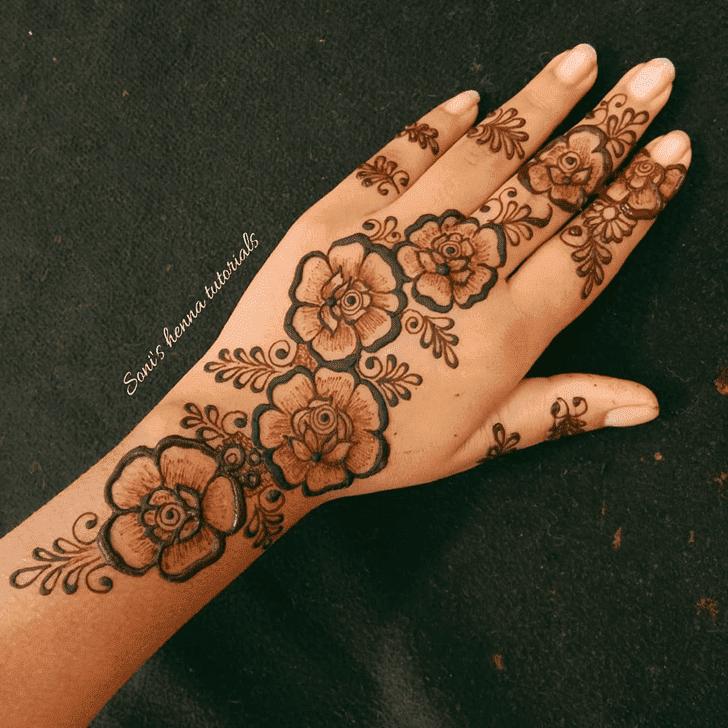 Charming Roses Henna Design