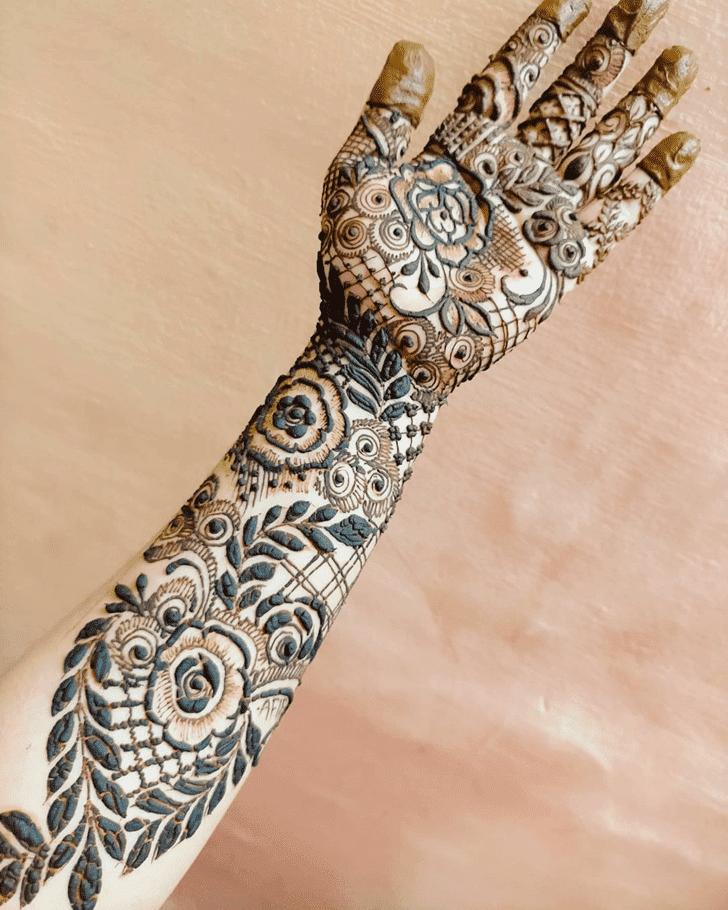 Delightful Roses Henna Design