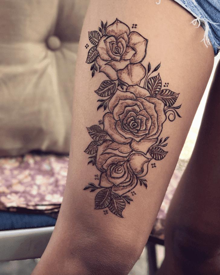 Enticing Roses Henna Design