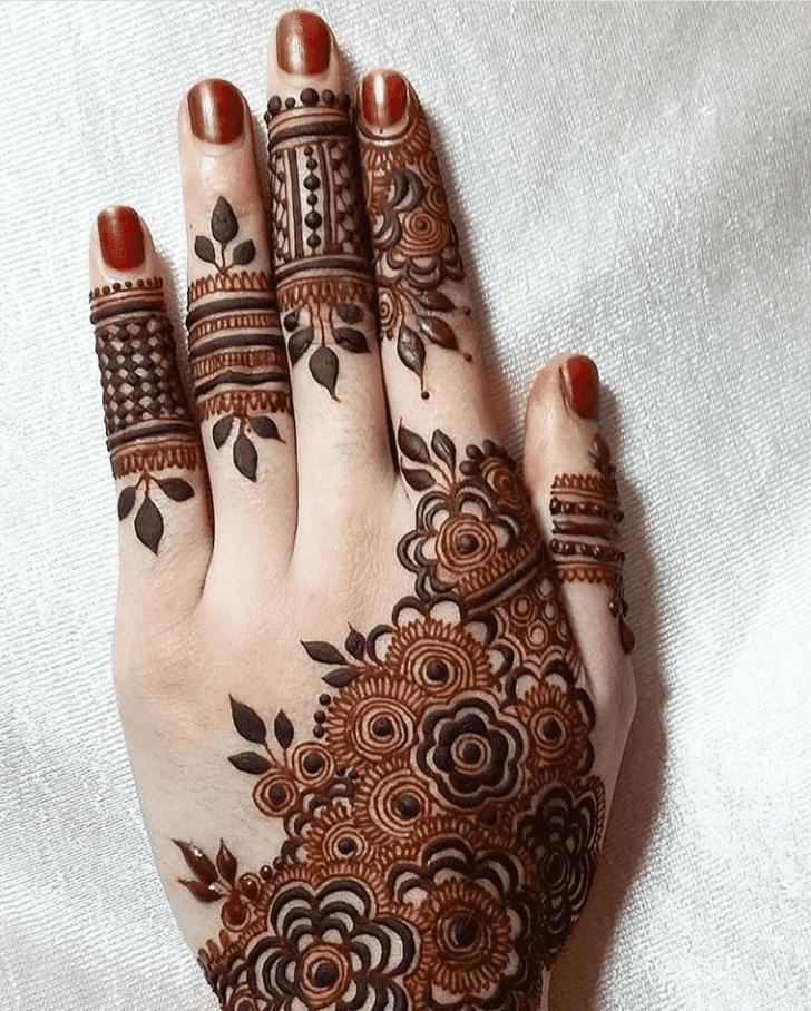 Excellent Roses Henna Design