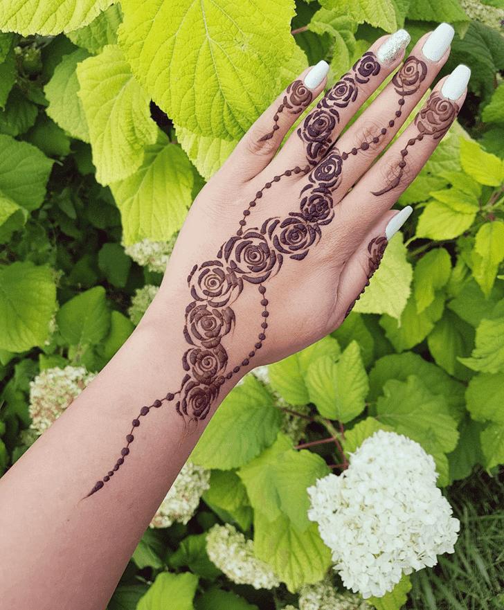Fair Roses Henna Design