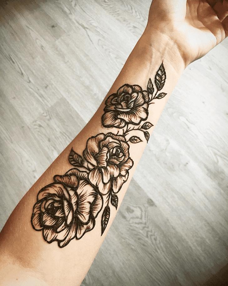 Fascinating Roses Henna Design