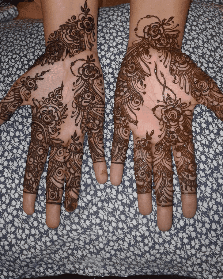 Wonderful Roses Henna Design