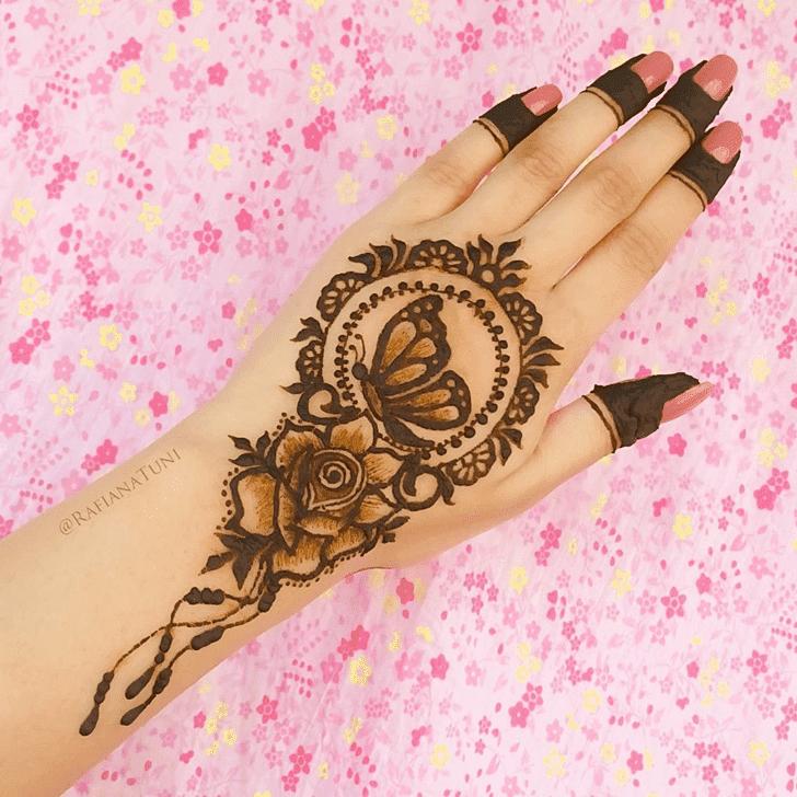 Gorgeous Roses Henna Design