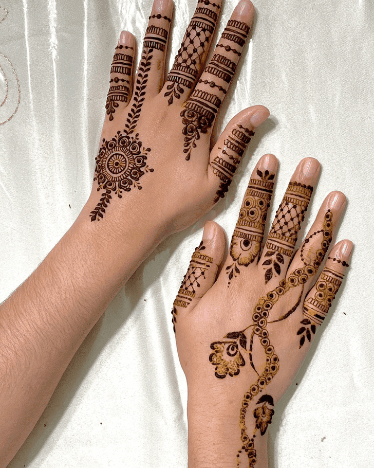 Ideal Roses Henna Design