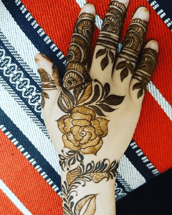 Inviting Roses Henna Design