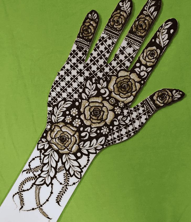 Magnetic Roses Henna Design