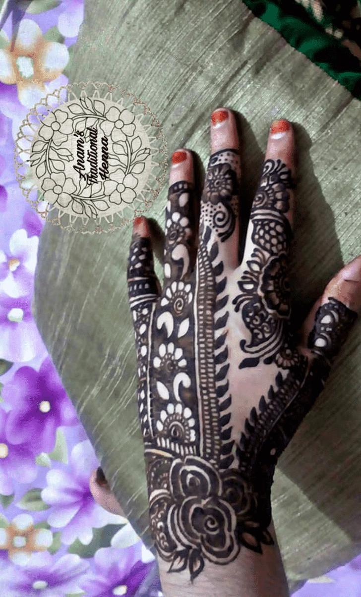 Refined Roses Henna Design