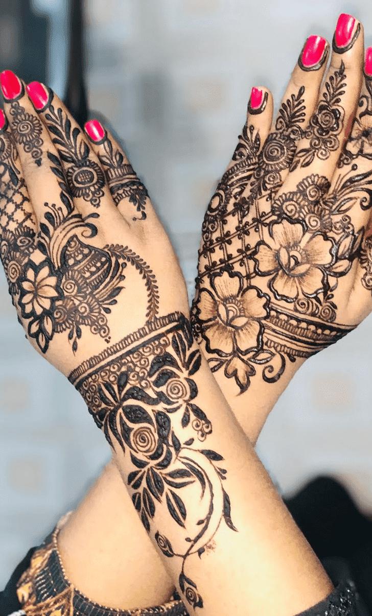 Slightly Roses Mehndi Design