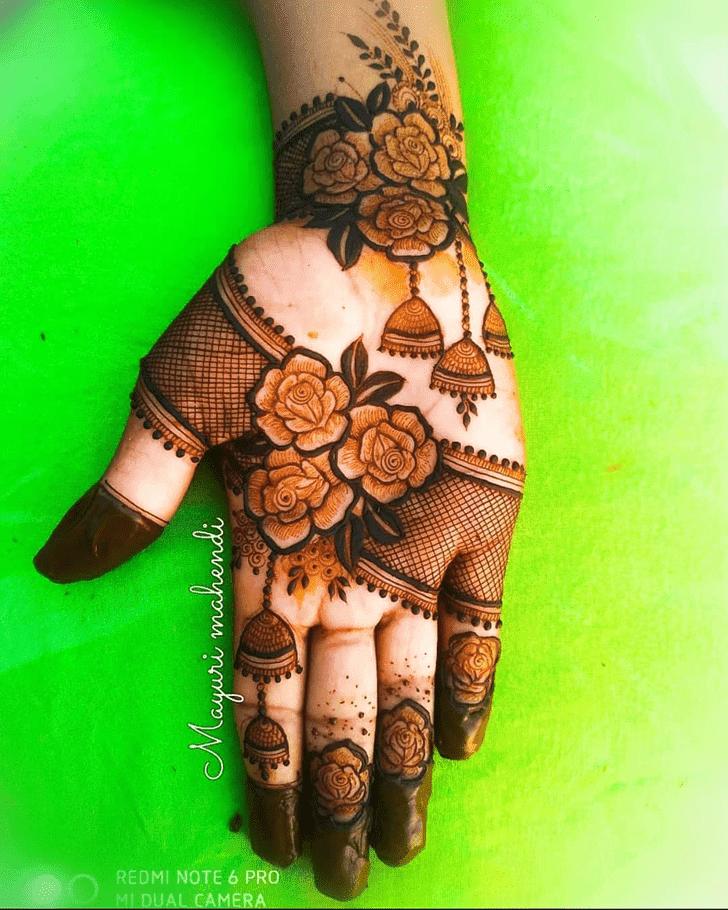 Splendid Roses Henna Design