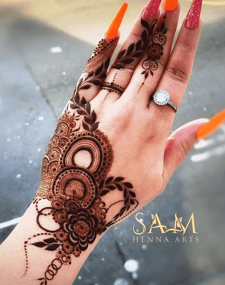 Bewitching Sankranti Henna Design