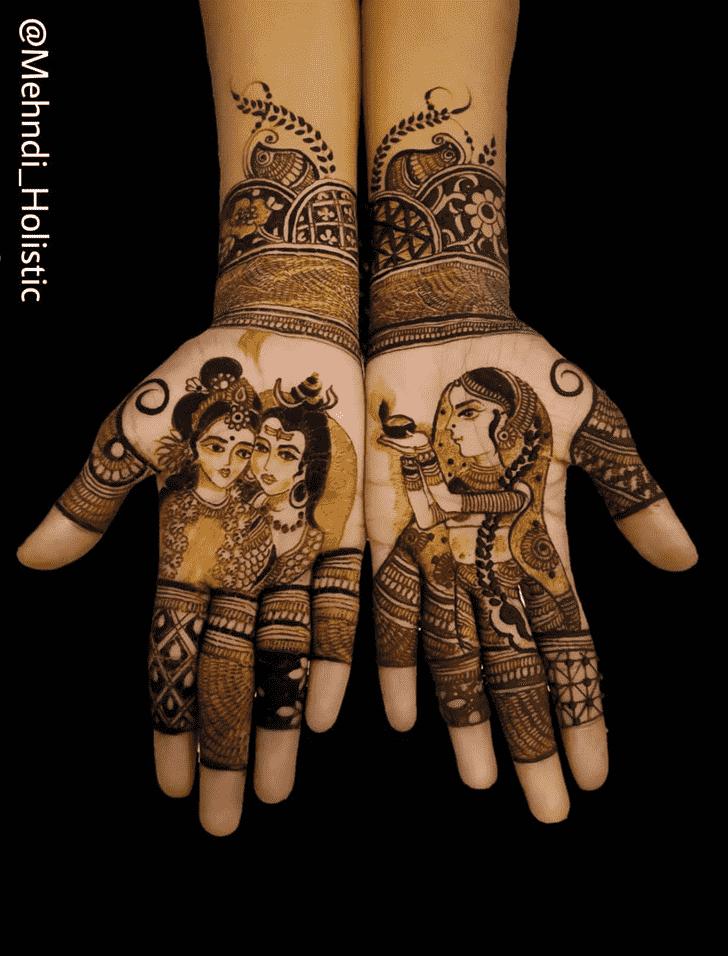 Admirable Shiva Mehndi Design