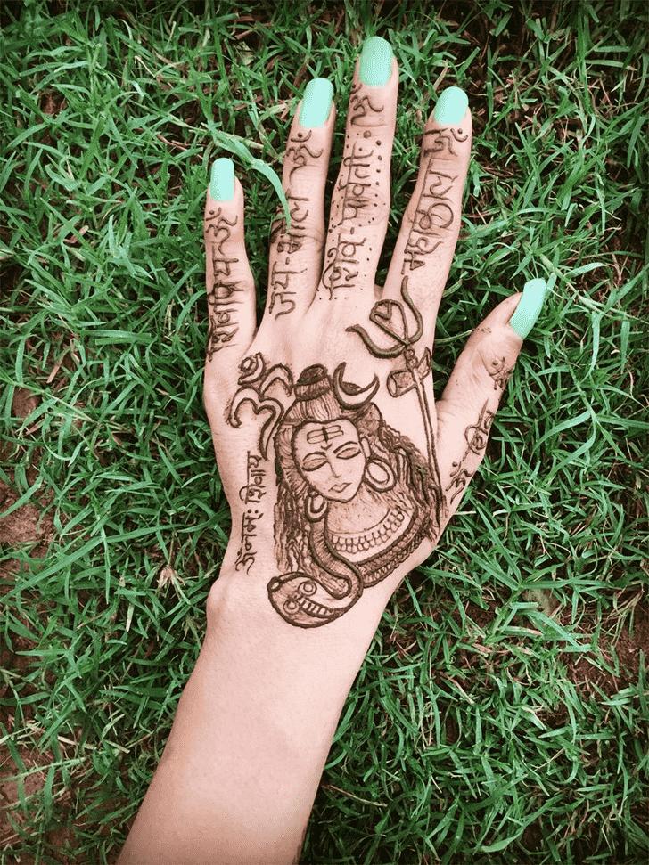 Adorable Shiva Henna Design
