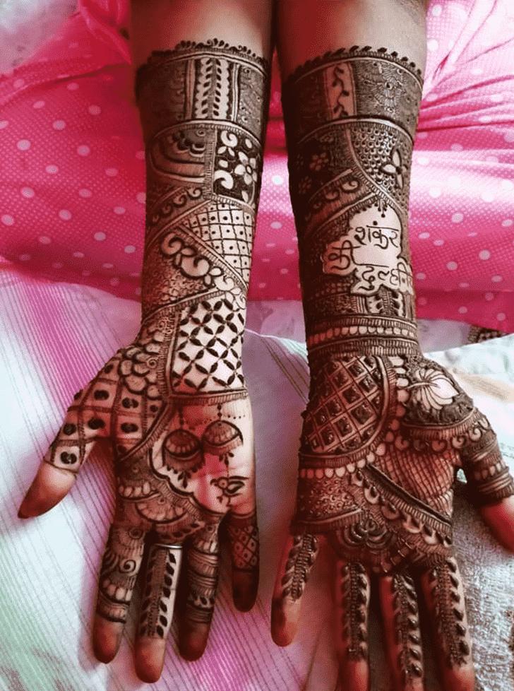 Alluring Shiva Henna Design