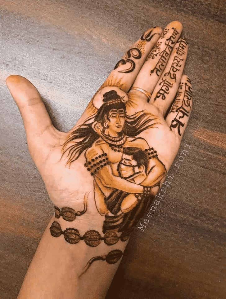 Charming Shiva Henna Design