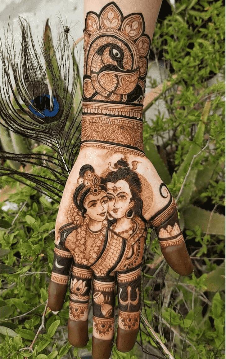 Classy Shiva Henna Design