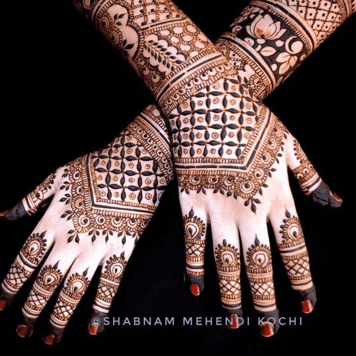Adorable Shivratri Henna design