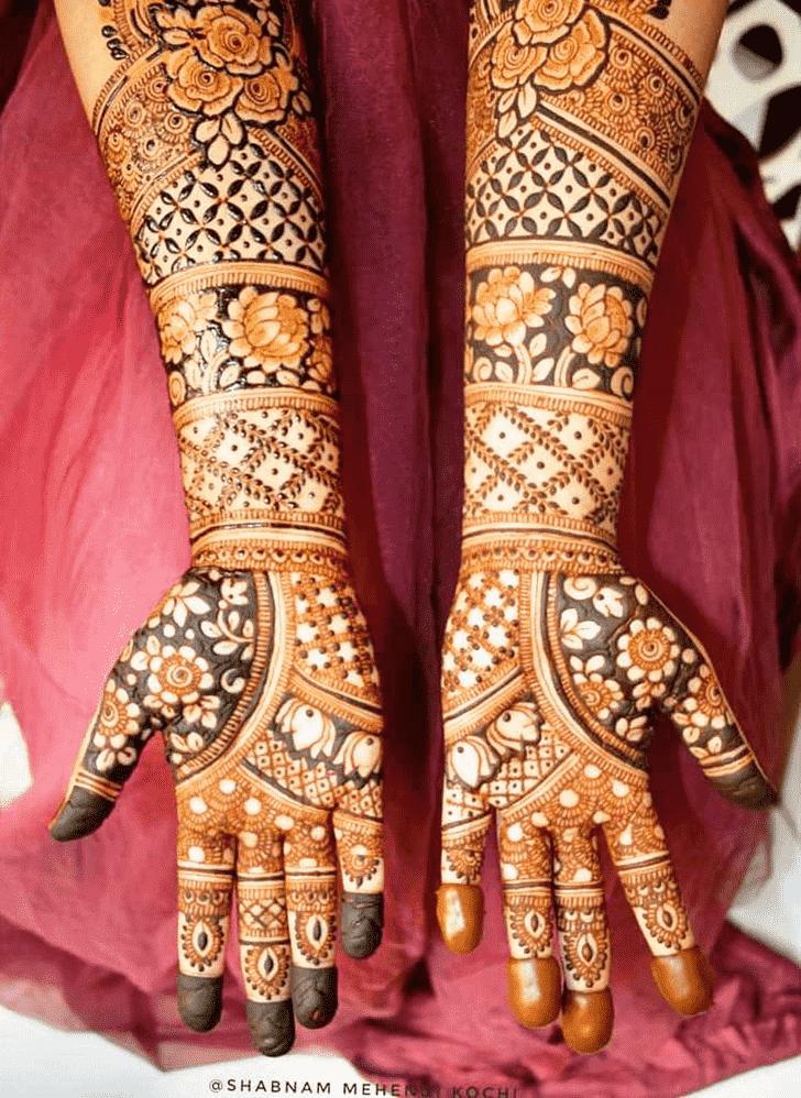 Beauteous Shivratri Henna design
