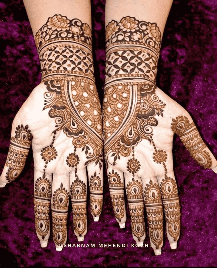 Charming Shivratri Henna design