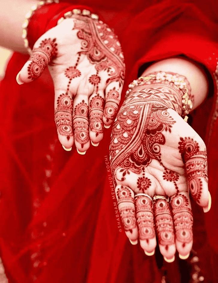 Classy Shivratri Henna design