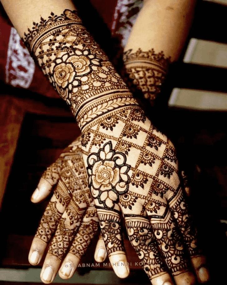 Cute Shivratri Henna design