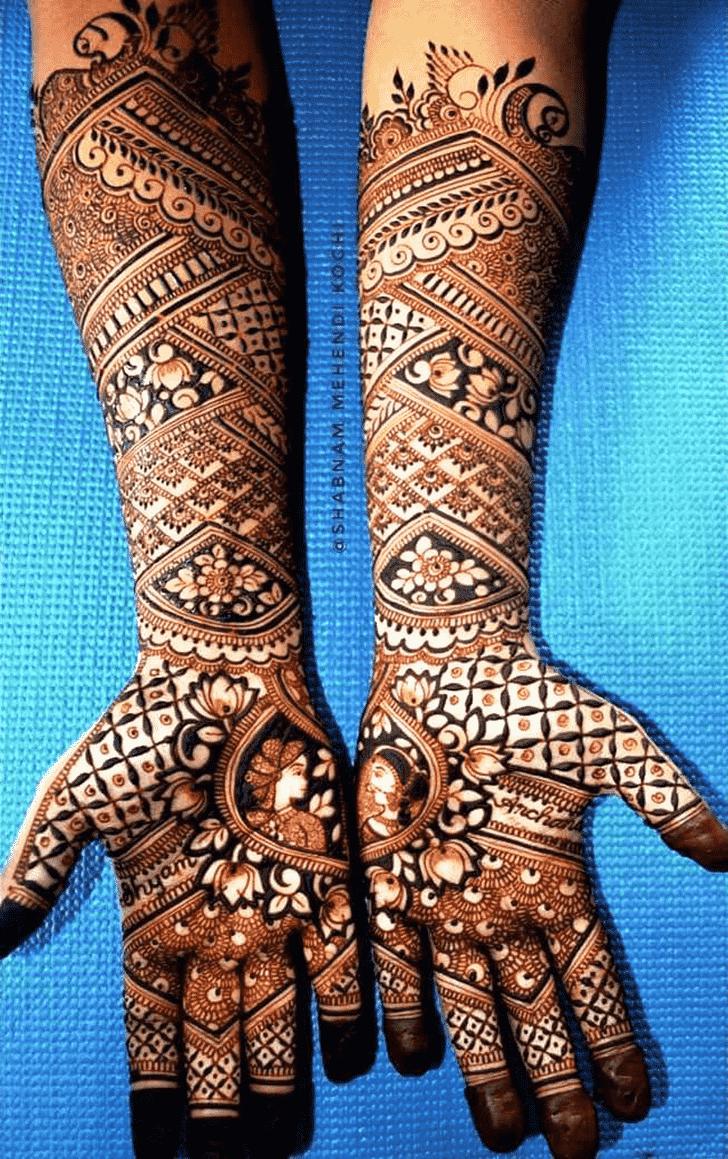 Delightful Shivratri Henna design