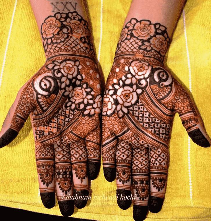 Divine Shivratri Henna design