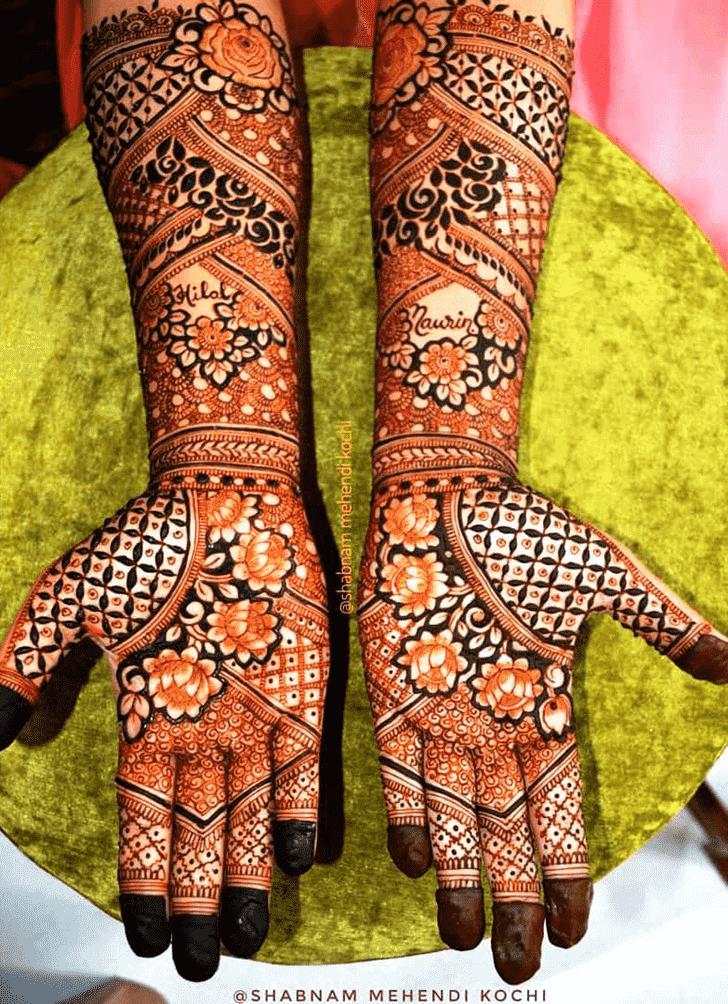 Elegant Shivratri Henna design