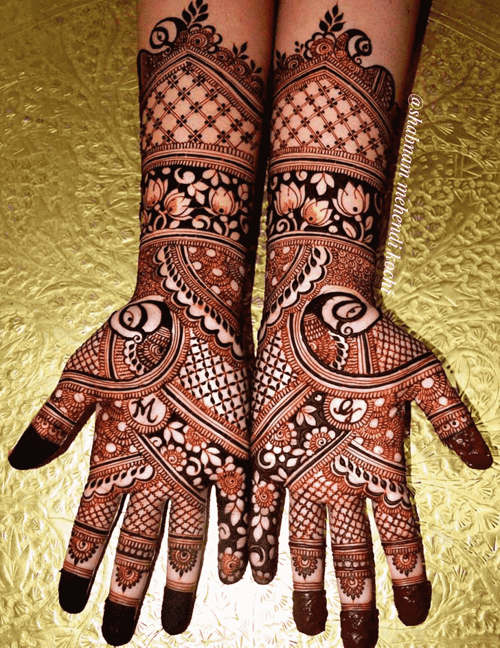 Good Looking Shivratri Henna design
